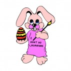 Bunny with paintbrush and easter egg, decals stickers