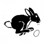 Bunny with egg jumping, decals stickers