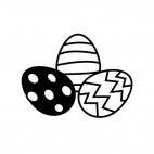 Easter eggs with stripes and spots, decals stickers