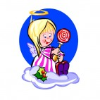 Angel with lollipop, decals stickers