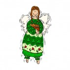 Angel with cookie basket, decals stickers