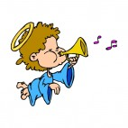 Angel playing horn, decals stickers