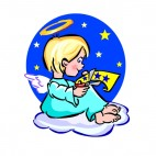 Angel cutting stars, decals stickers