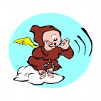 Cherub in brown robe, decals stickers