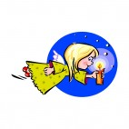 Angel  with candle, decals stickers
