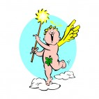 Cherub with magic wand, decals stickers