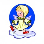 Angel dancing, decals stickers