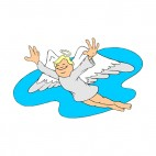 Flying angel smiling, decals stickers