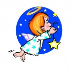 Angel holding star, decals stickers