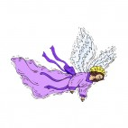 Angel with purple dress, decals stickers