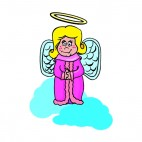 Angel with pink dress, decals stickers