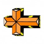 Black and gold cross, decals stickers
