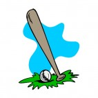 Baseball bat and ball, decals stickers