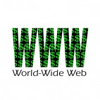 World wide web title, decals stickers