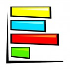 Multi colors bar graph, decals stickers