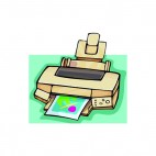 Beige top loader printer, decals stickers