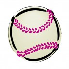 Baseball ball drawing, decals stickers
