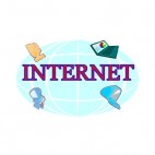 Internet world communication, decals stickers