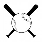 Baseball bats and ball, decals stickers