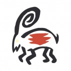Moutain sheep figure, decals stickers
