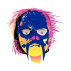 Aboriginal purple and orange mask, decals stickers