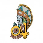 Natime american chief head mask figure, decals stickers