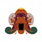 Native american brown angry chief face mask , decals stickers