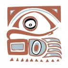 Native american brown and blue eagle design, decals stickers
