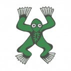 Green frog with grey paws, decals stickers