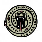 Green and black snake with mouth open figure, decals stickers