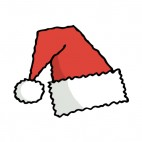 Santa hat, decals stickers
