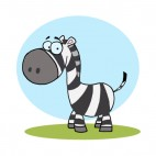 Zebra with blue backround, decals stickers