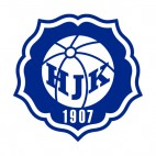 HJK Helsinki soccer team logo, decals stickers