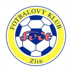 Zlin Czech Club soccer team logo, decals stickers