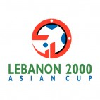 2000 AFC Asian Cup logo, decals stickers