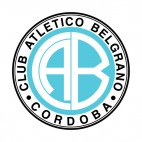 Club Atletico Belgrano soccer team logo, decals stickers