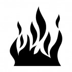 Fire flames, decals stickers