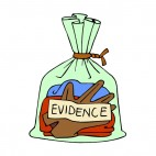Crime evidence gloves bag, decals stickers