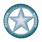 Texas Ranger badge, decals stickers