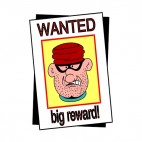 Crime wanted big reward, decals stickers