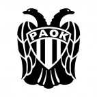 PAOK FC soccer team logo, decals stickers