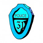 Blue police precinct 31 badge, decals stickers