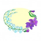 Blue and purple orchids backround, decals stickers