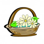 Daisies flower basket, decals stickers