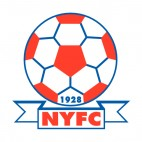 NY FC soccer team logo, decals stickers
