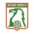 Geylang United Football Club soccer team logo, decals stickers