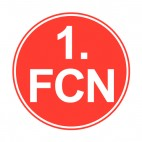 1 FC Nuremberg soccer team logo, decals stickers