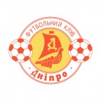 Dnipro soccer team logo, decals stickers