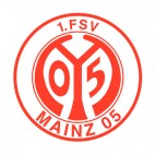 1 FSV Mainz 05 soccer team logo, decals stickers