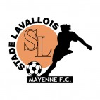 Stade Lavallois Mayenne FC soccer team logo, decals stickers